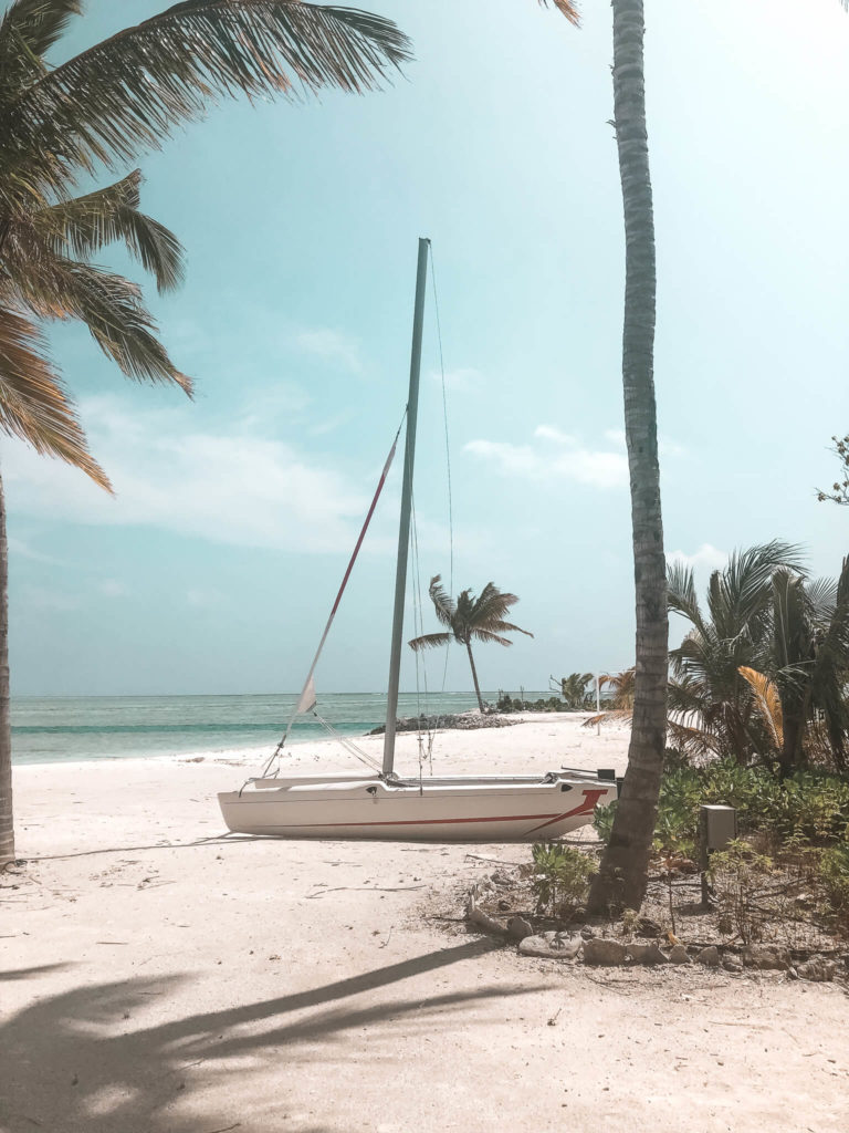 łódka na Malediwach