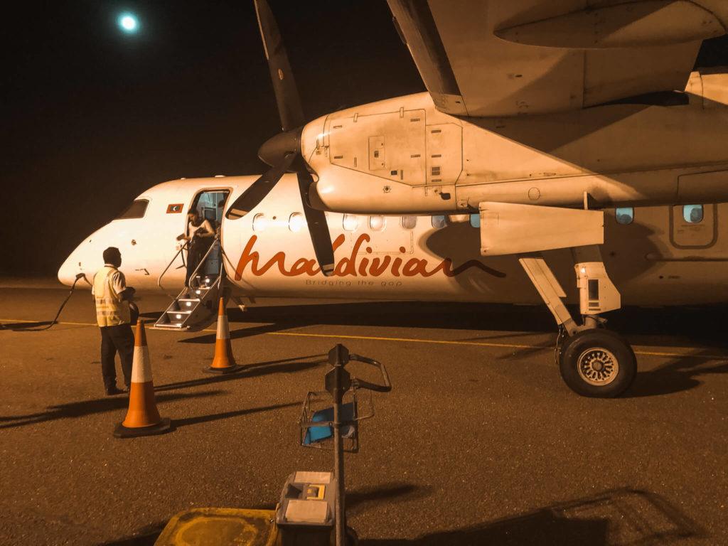 samolot na Malediwach