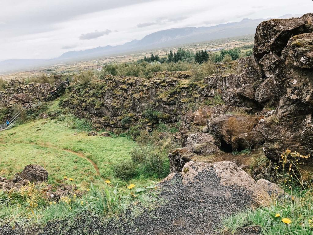 Park Thingvellir w Islandii