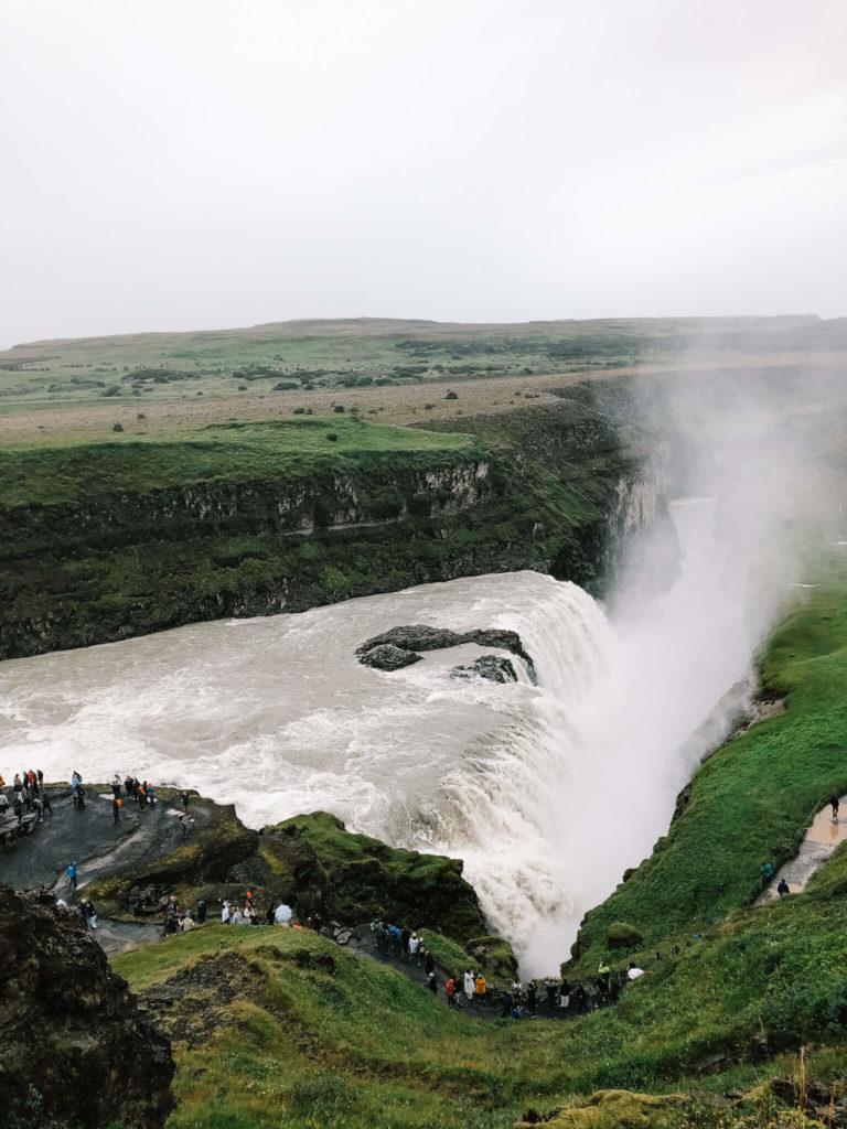 wodospad Gullfoss, złoty krąg