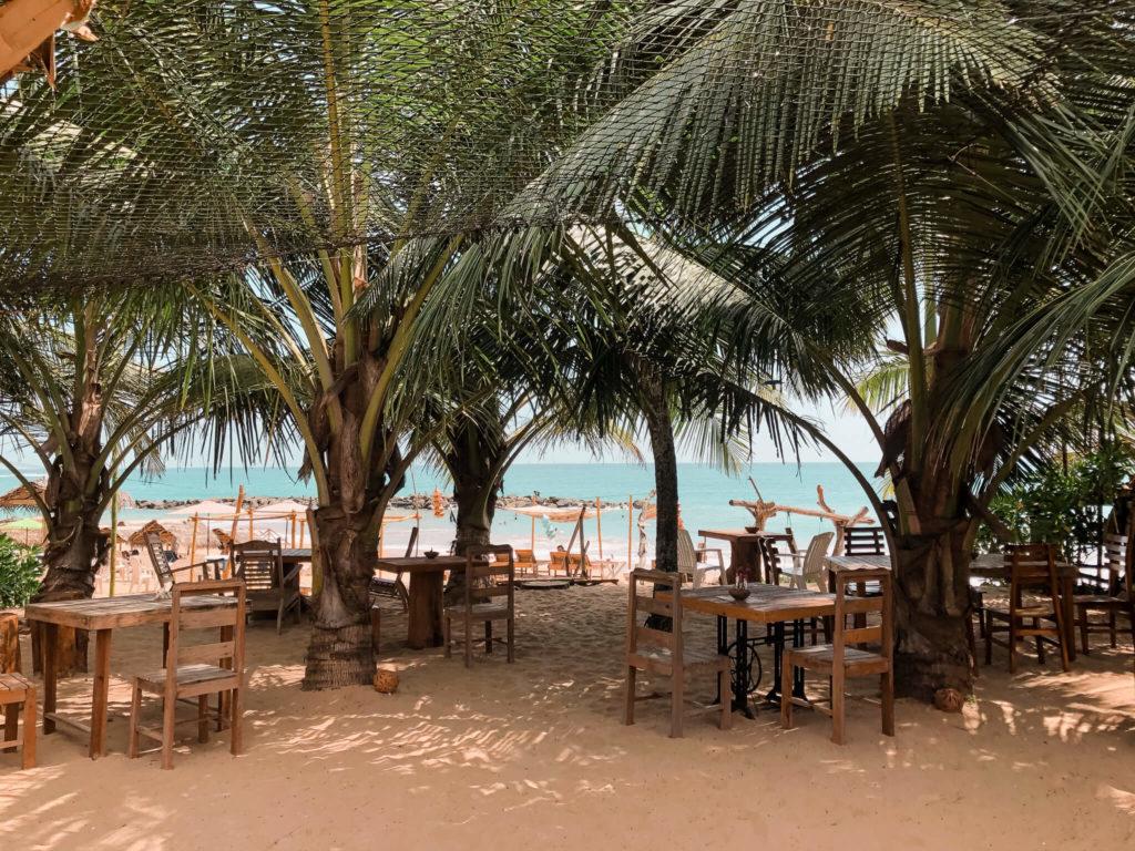 restauracje na plażach w tanalle Sri Lanka