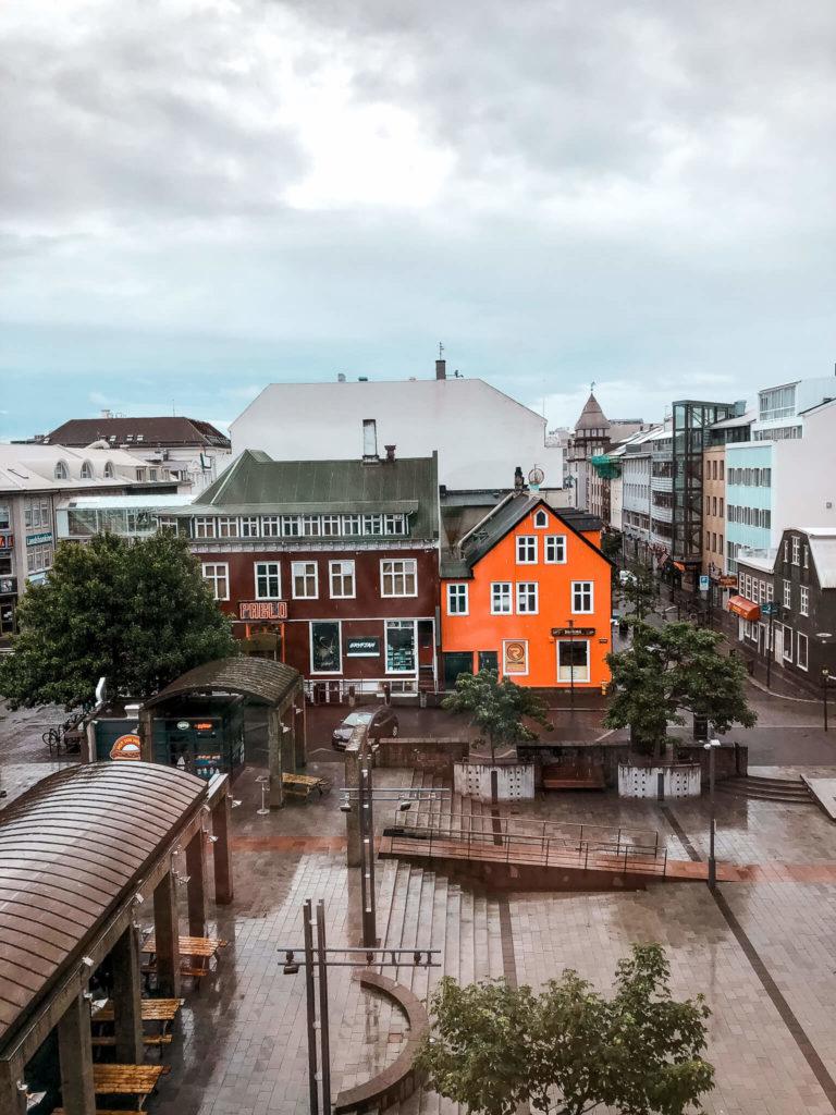 kolorowe domki w Reykjavik