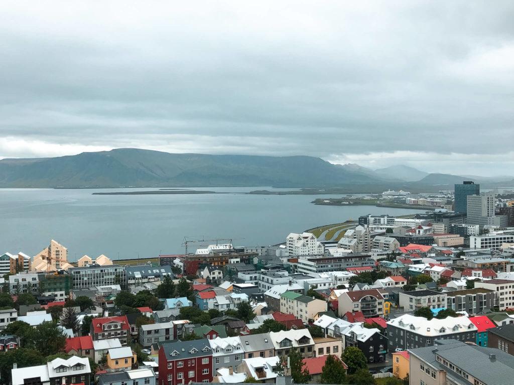 Reykjavik z kościoła hallgrimskirkja