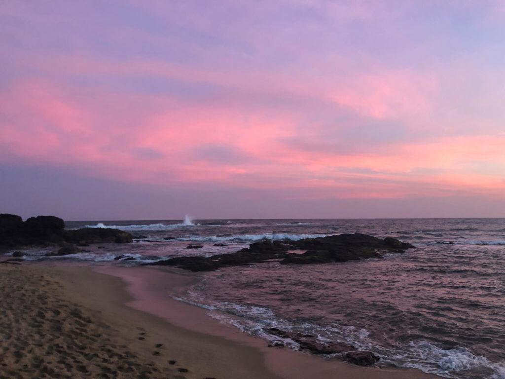 zachód słońca turtle beach Sri Lanka
