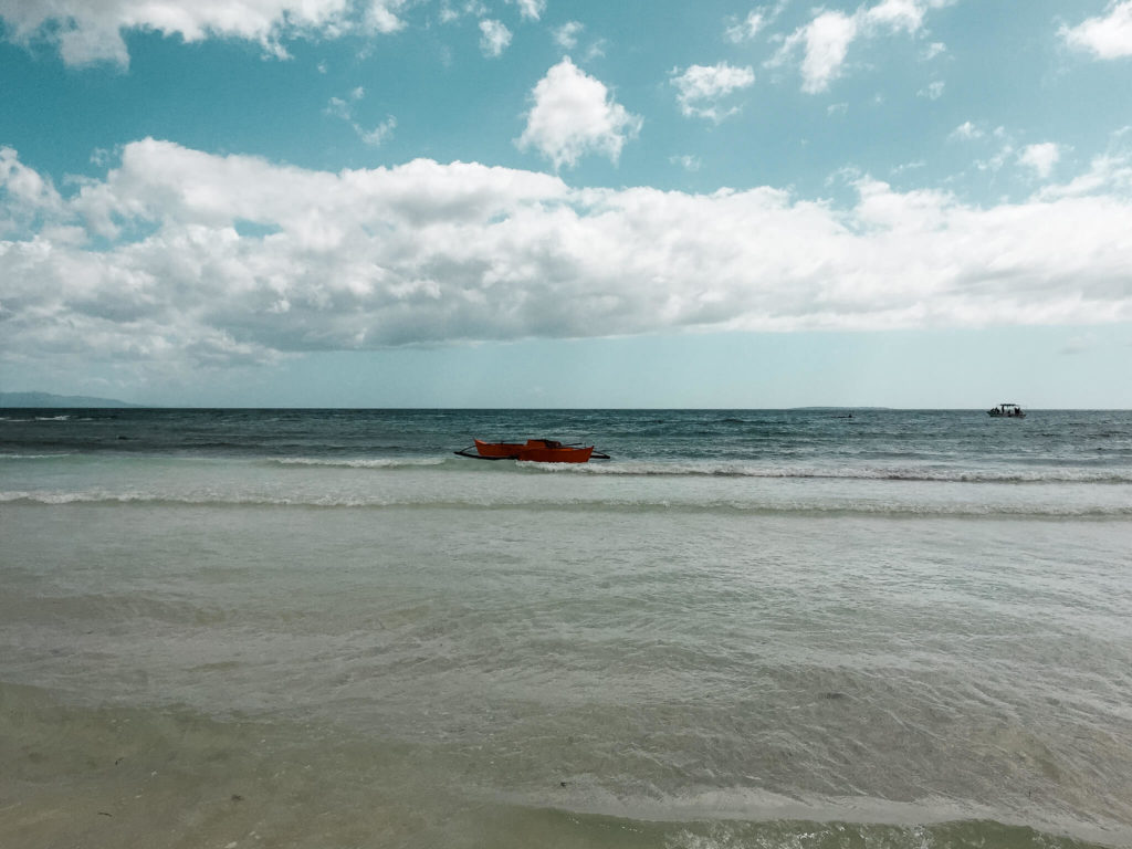 white beach ocean Bohol Filipiny