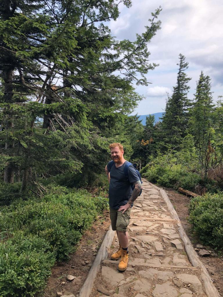 pierwszy odcinek czerwongo szlaku, las, Babia Góra