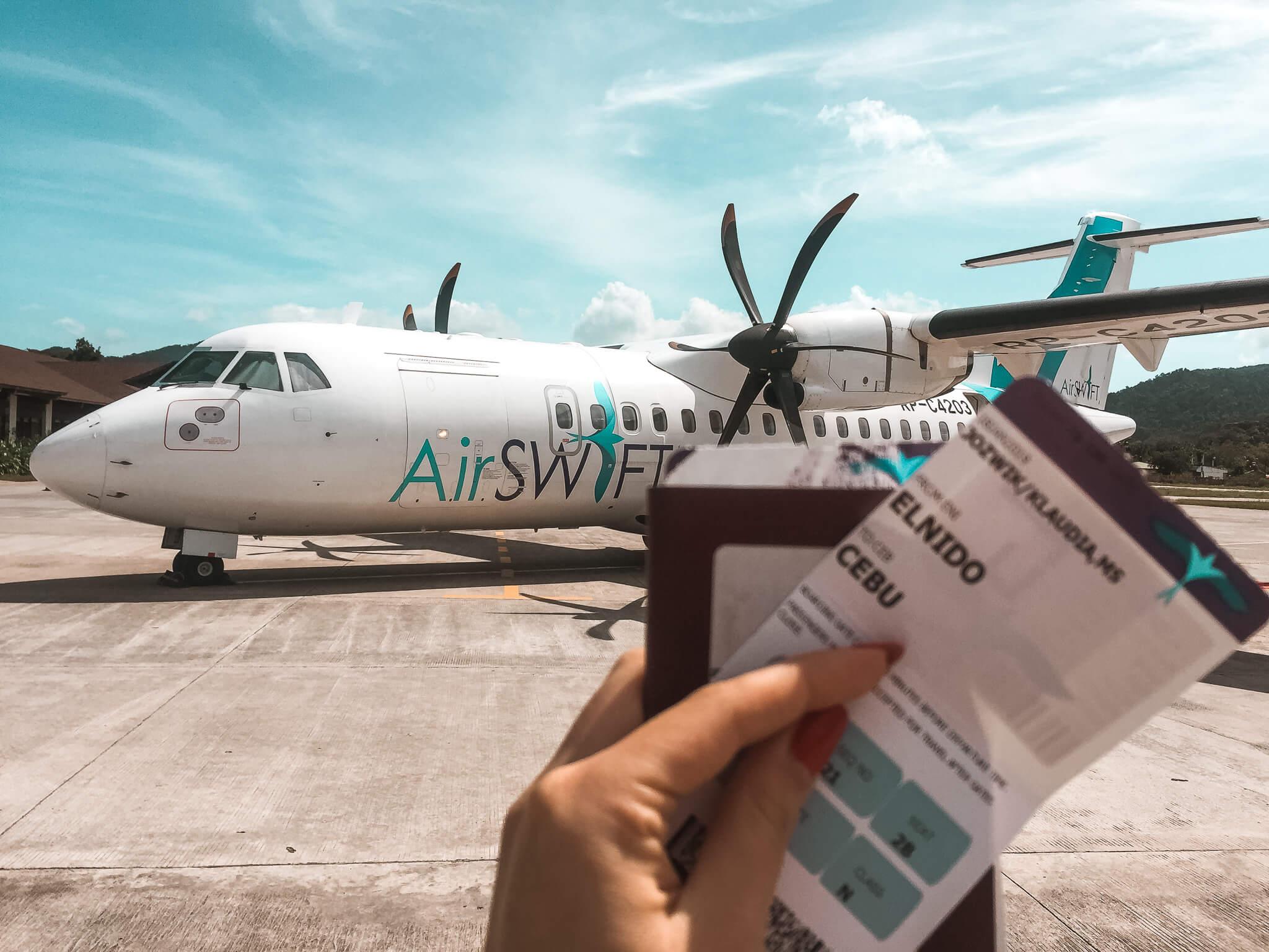lotnisko w El Nido na Palawanie