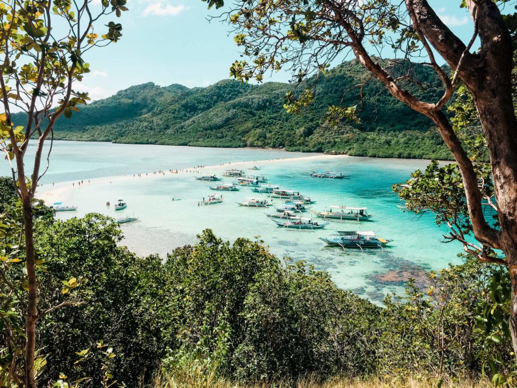widok na snake island, Palawan
