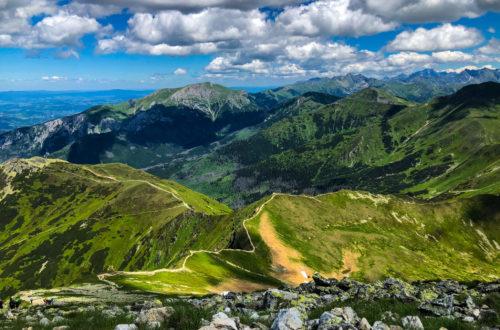 widok na Tatry Zachodnie ze Starorobociańskiego Wierchu
