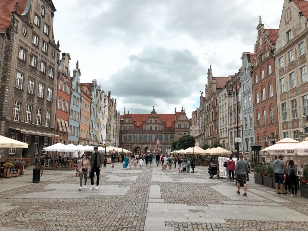Długi targ i zielona Brama w Gdańsku