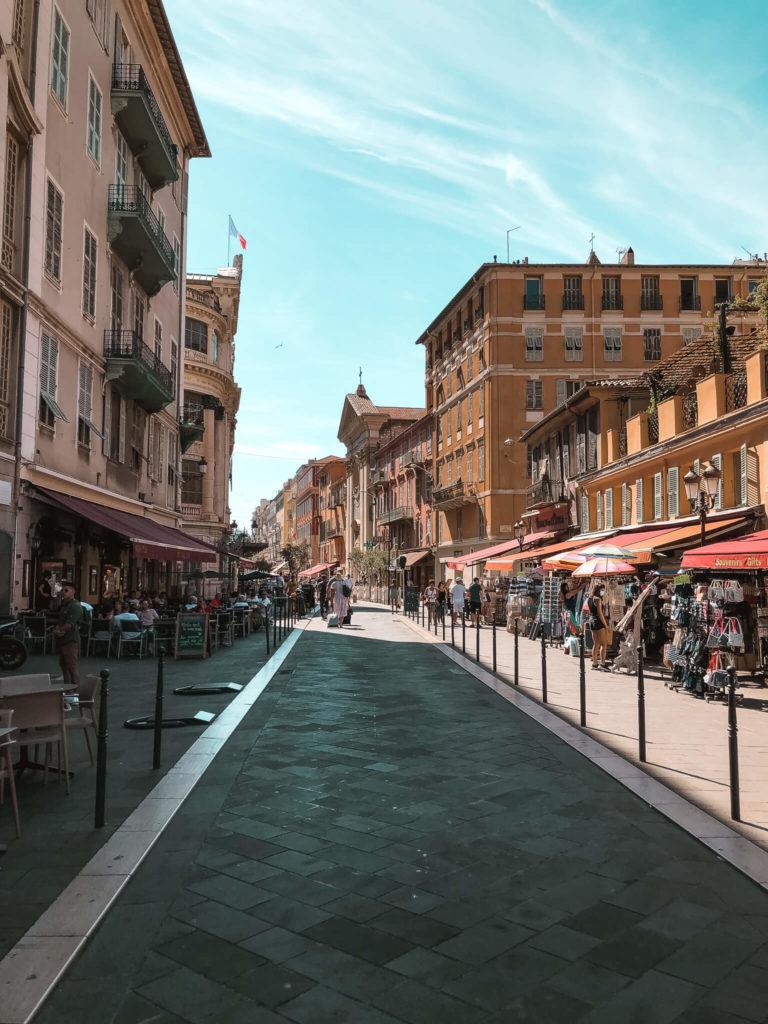 Stare Miasto w Nicei, ulice
