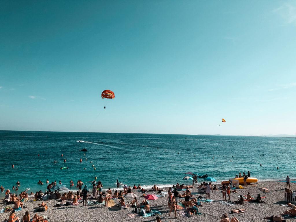plaże w Nicei